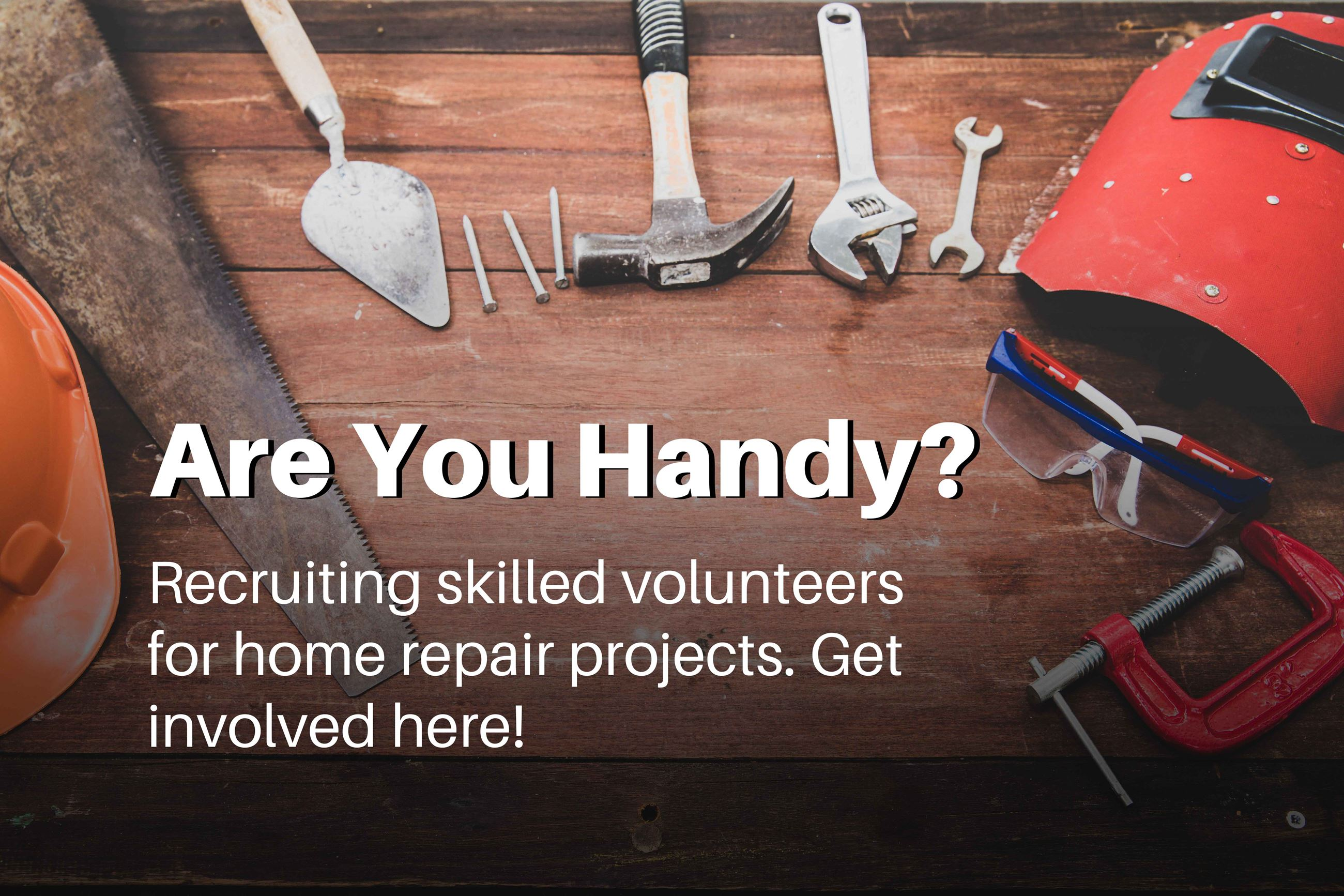 Are you handy? Recruiting skilled volunteers for home repair projects