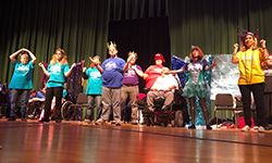 Adults with disabilities ready to perform on stage for Dramapalooza